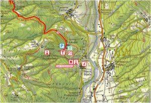 regina vida castello ahrensperg stazione terapia forestale valli del natisone friuli venezia giulia - mappa
